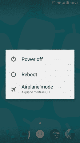 power off android